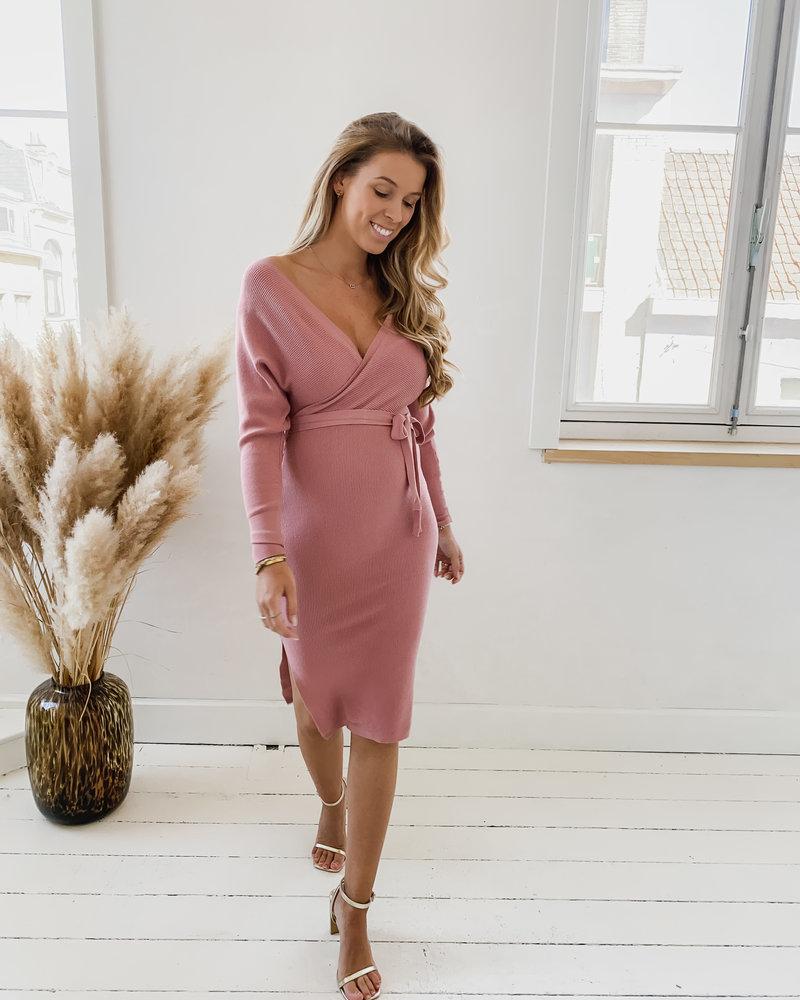 Old Pink Autumn Dress