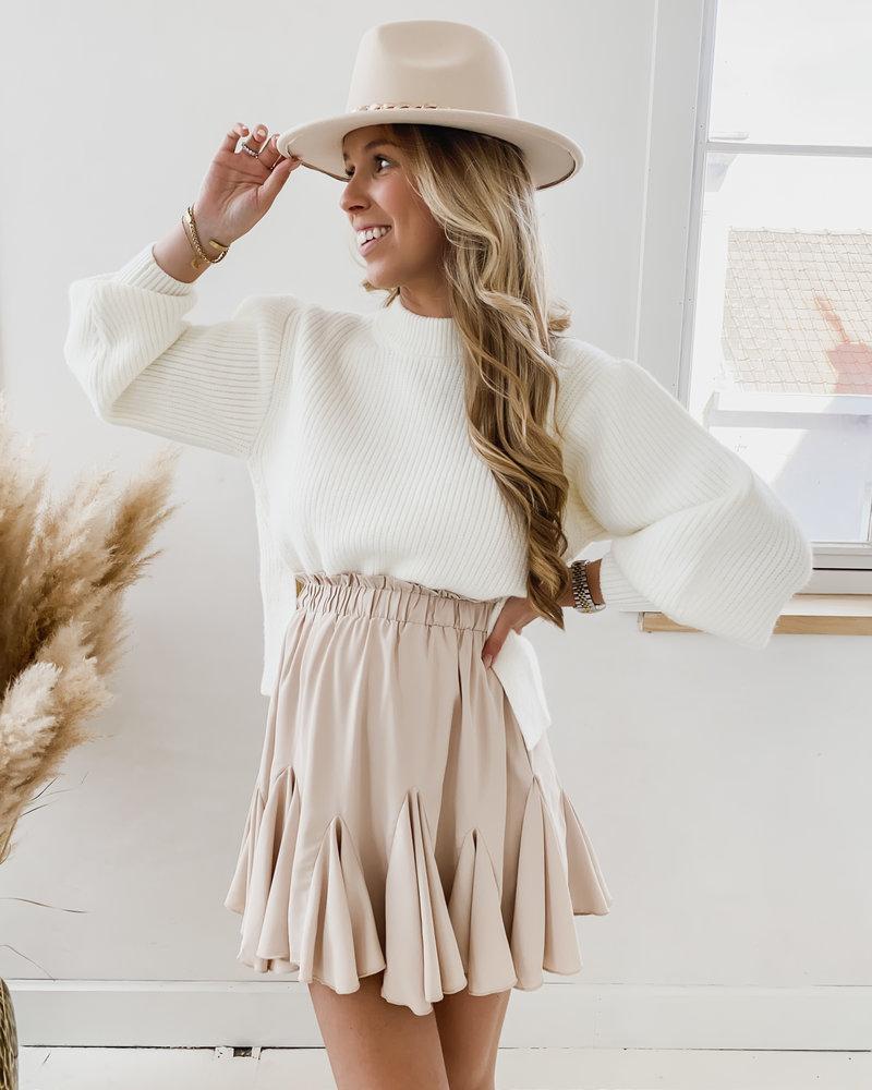 White Side Split Sweater