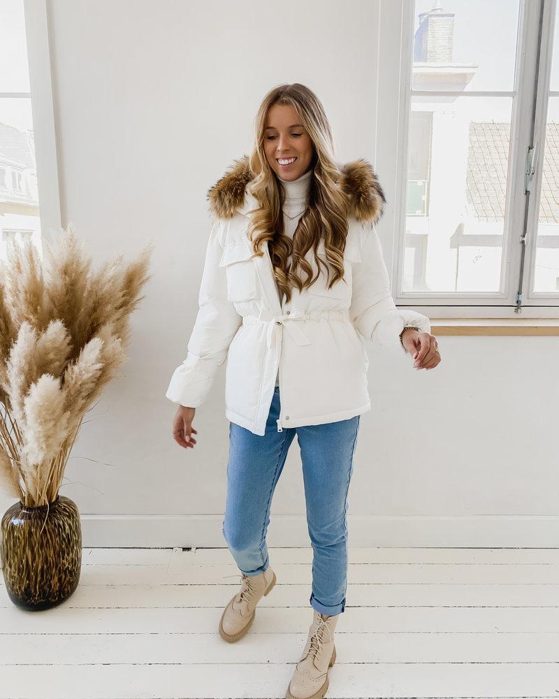 White Winter Poffy Jacket