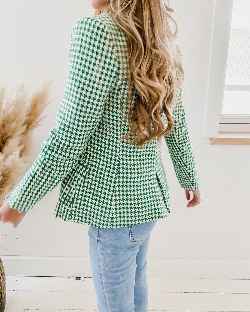 Green Checked Blazer