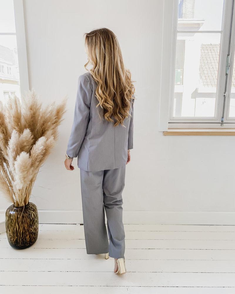Grey Split Classic Trouser