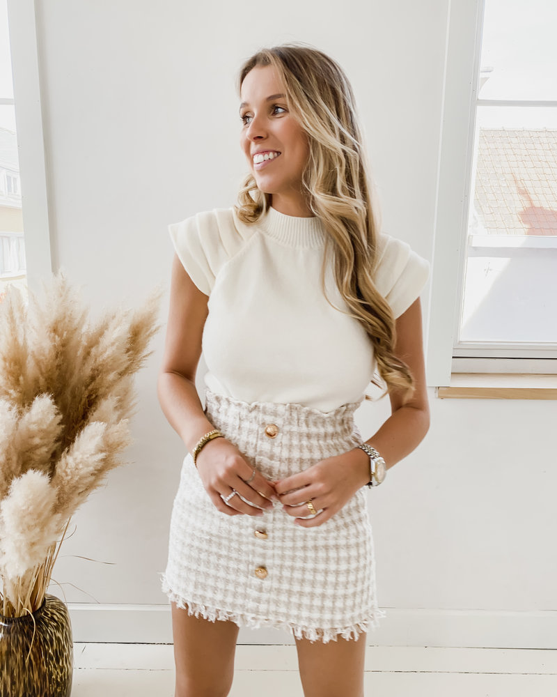Beige Chanel Inspired Skirt