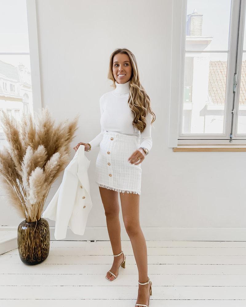 White Chanel Inspired Skirt