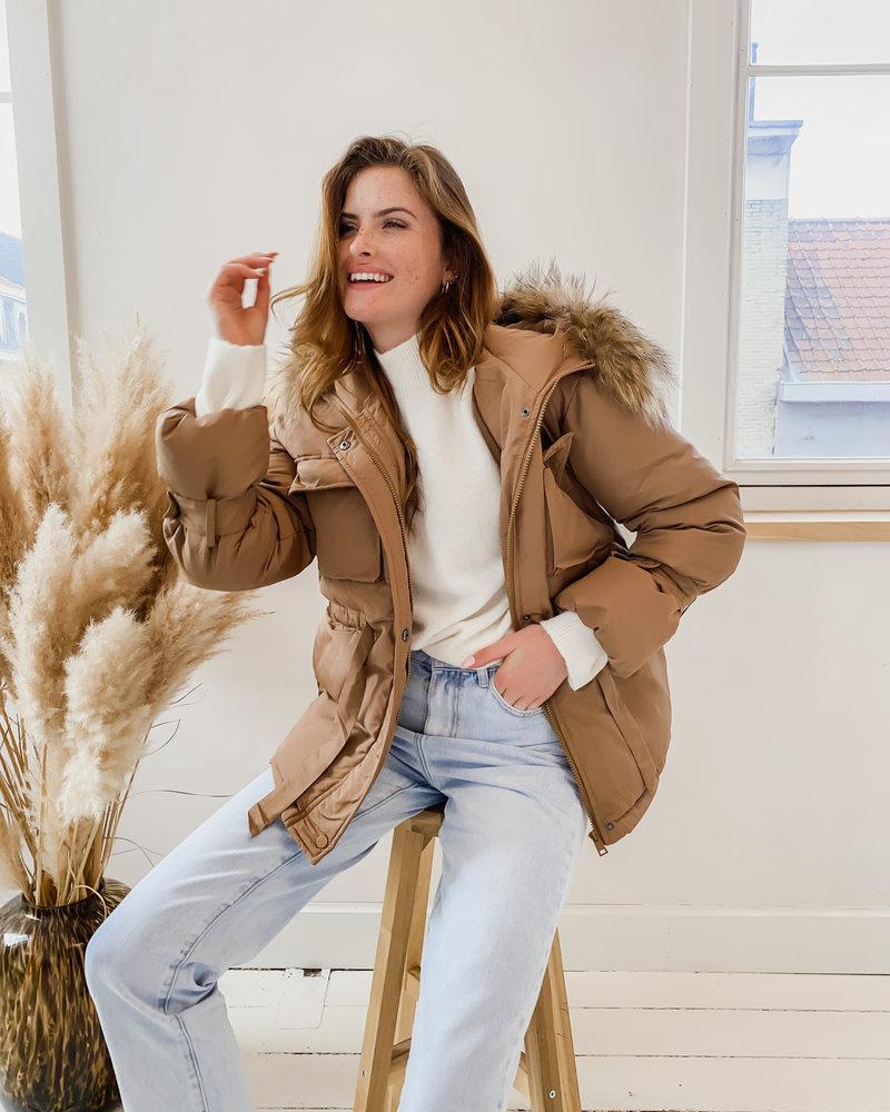 Brown Winter Poffy Jacket