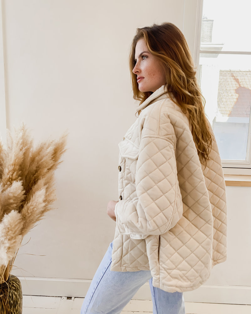 Beige Soft Tricot Jacket