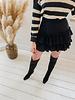 Black&Beige Stripe Turtleneck Sweater