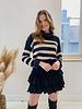 Black Ruffle Autumn Skirt