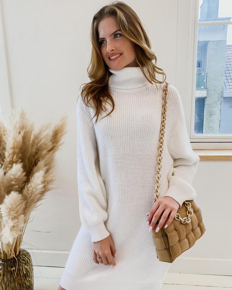 White Autumn Sweater Dress