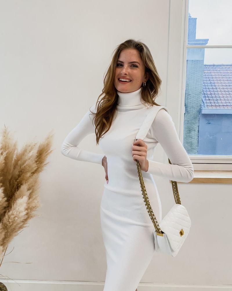 White Golden Chain Bag