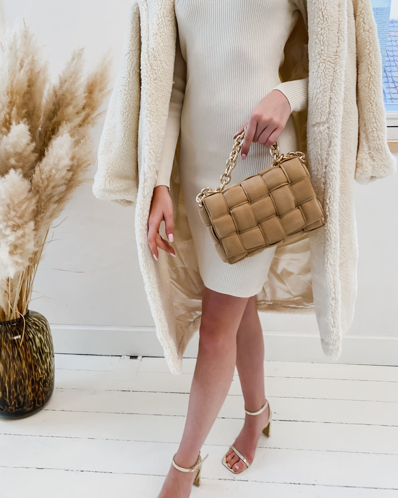 Camel Suede Chian Bag