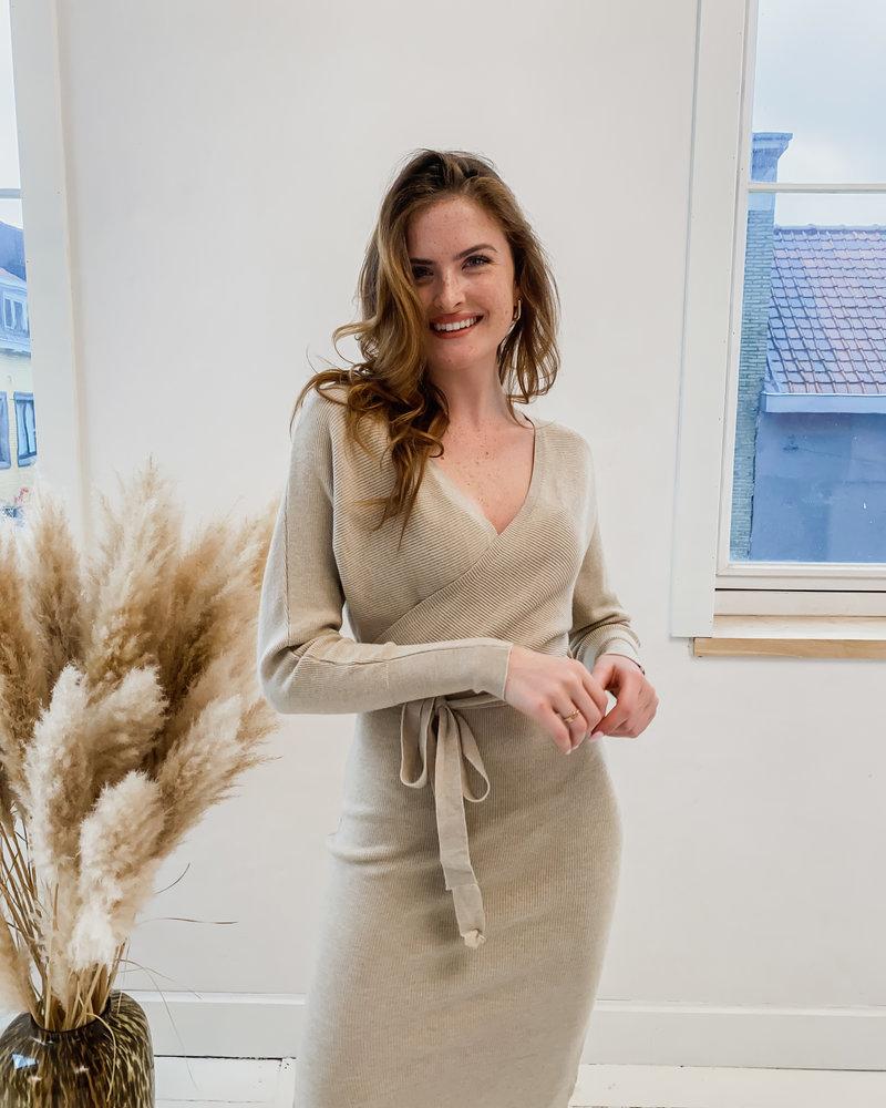 Beige Autumn Dress