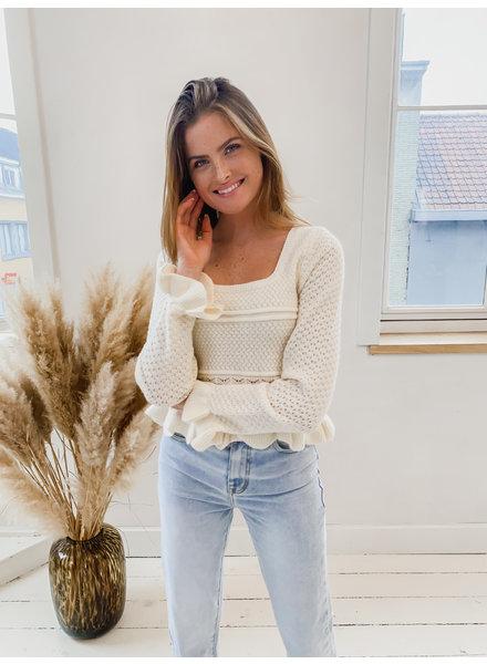 Ecru Short Girly Sweater