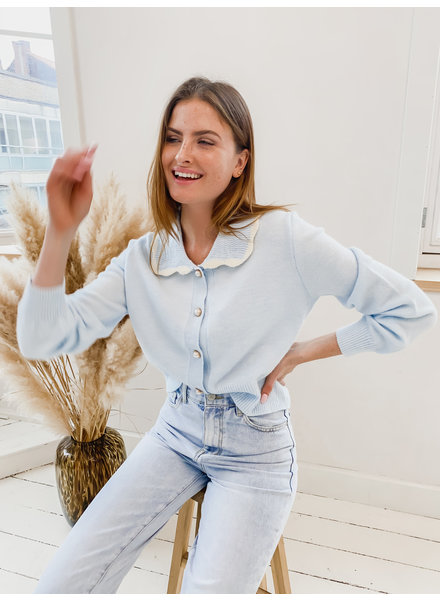 Candy Baby Blue Collar Sweater