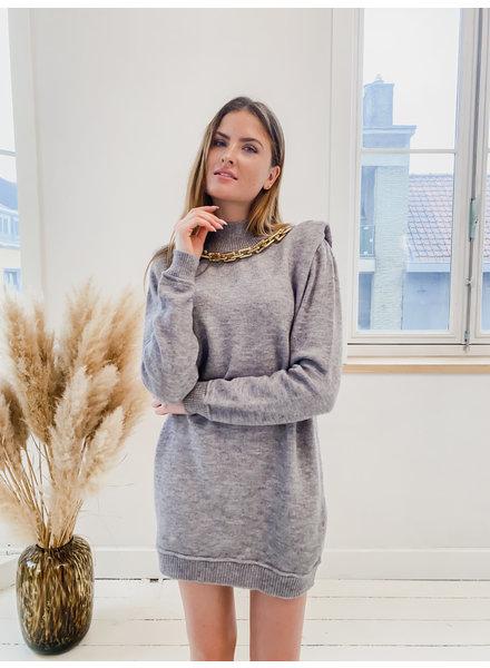 Grey Chain Sweater Dress