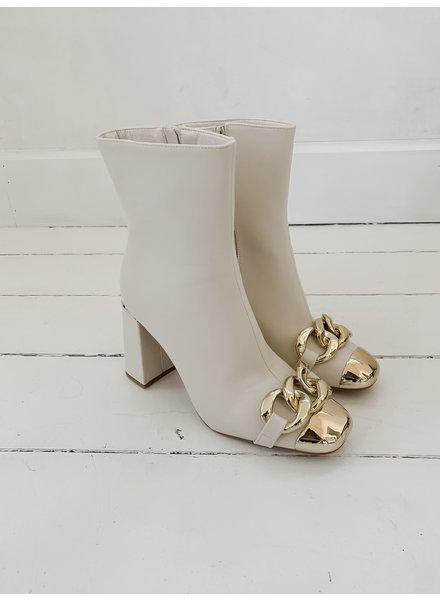 Beige Boucle Boots