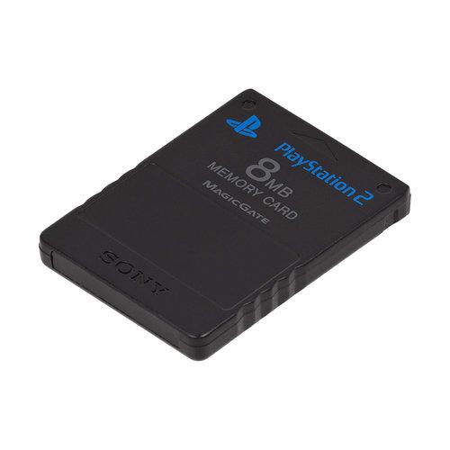 Playstation 2 - 8MB Memory Card - Zwart