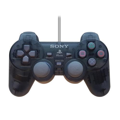 Sony Playstation 1 Dual Shock controller - Smoke Black (doorzichtig)
