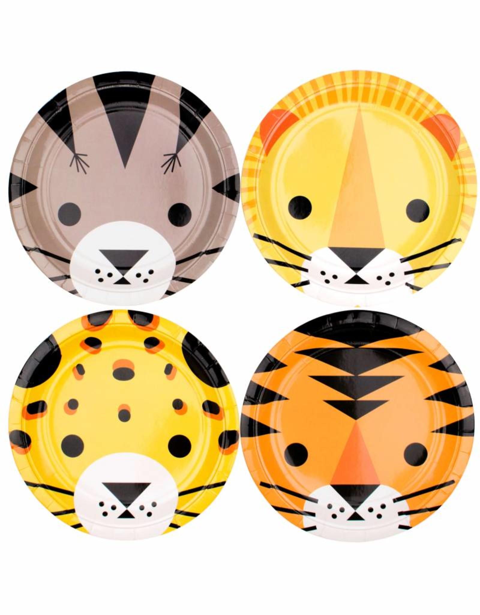 My Little Day Papieren bordjes wilde jungle dieren | 8 stuks