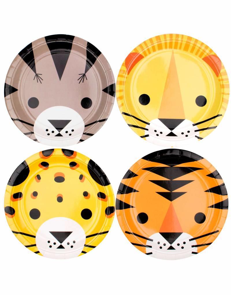 My Little Day Papieren bordjes wilde jungle dieren   8 stuks