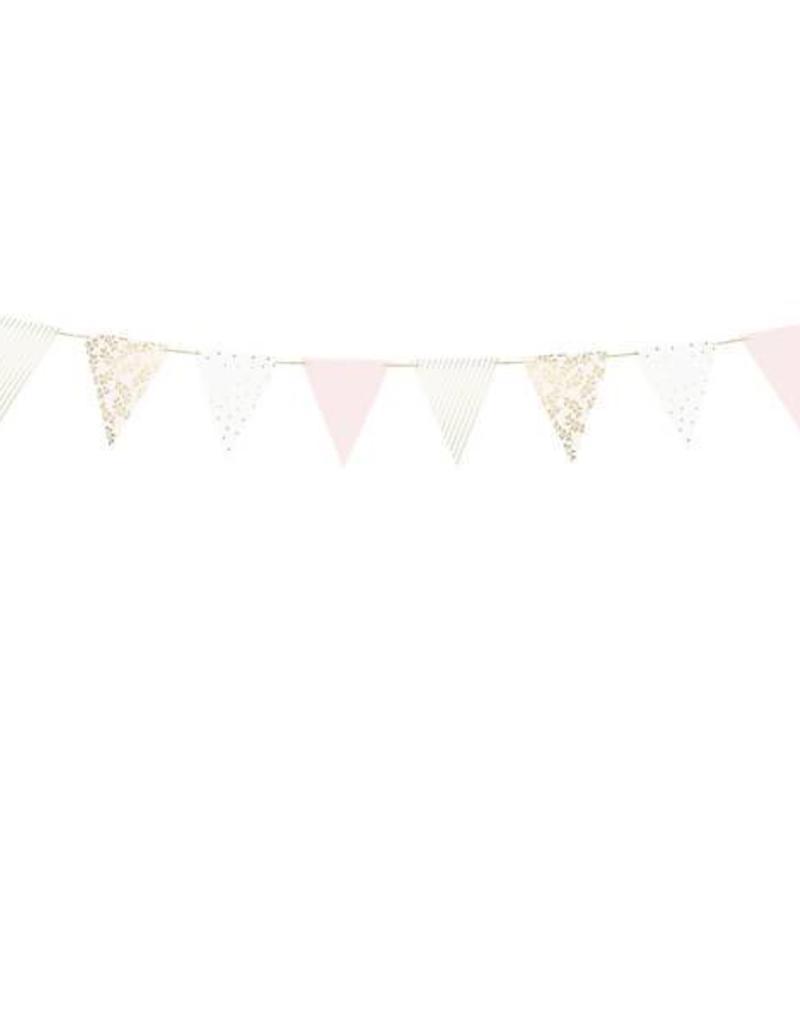 PartyDeco Slinger lichtroze & goud DIY
