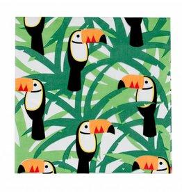 My Little Day Servetten groen 'Tropical toucan' | 20st