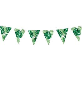 PartyDeco Slinger vlaggetjes tropical leaves | 1,3 meter