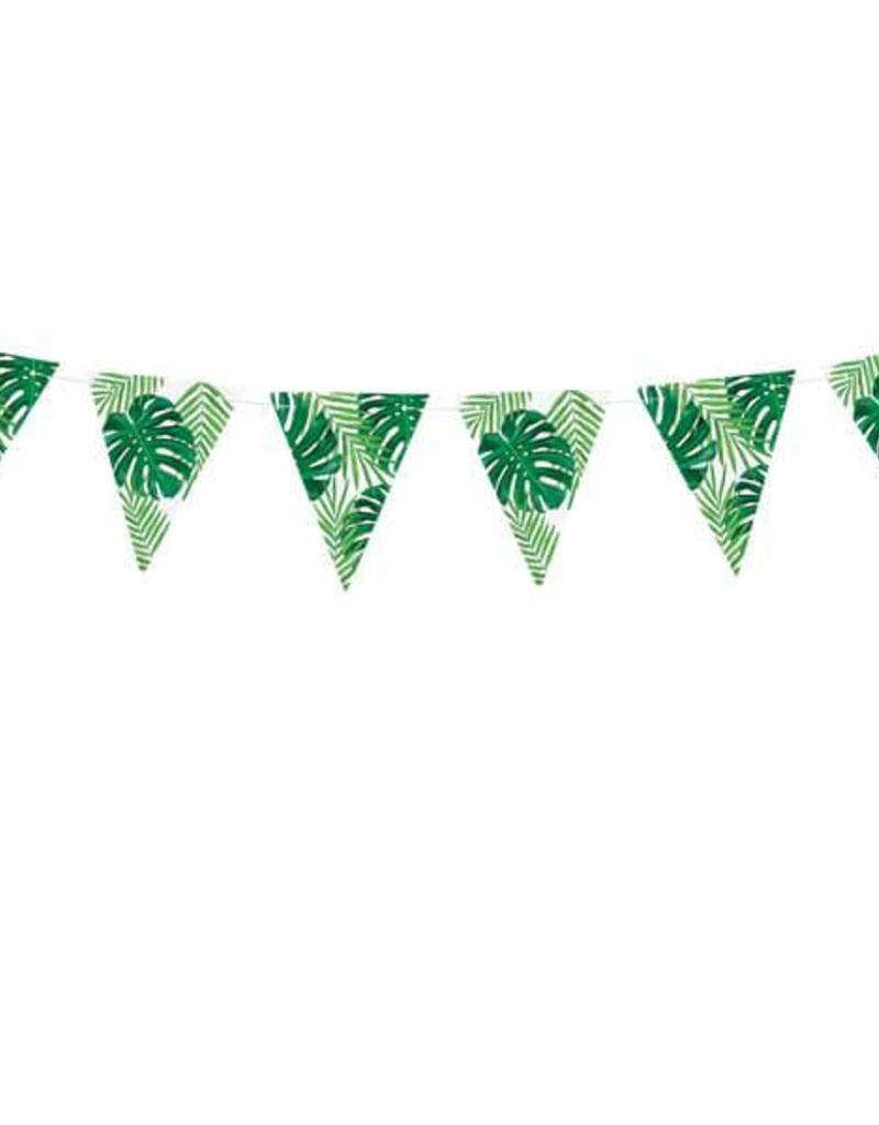 PartyDeco Slinger vlaggetjes tropical leaves