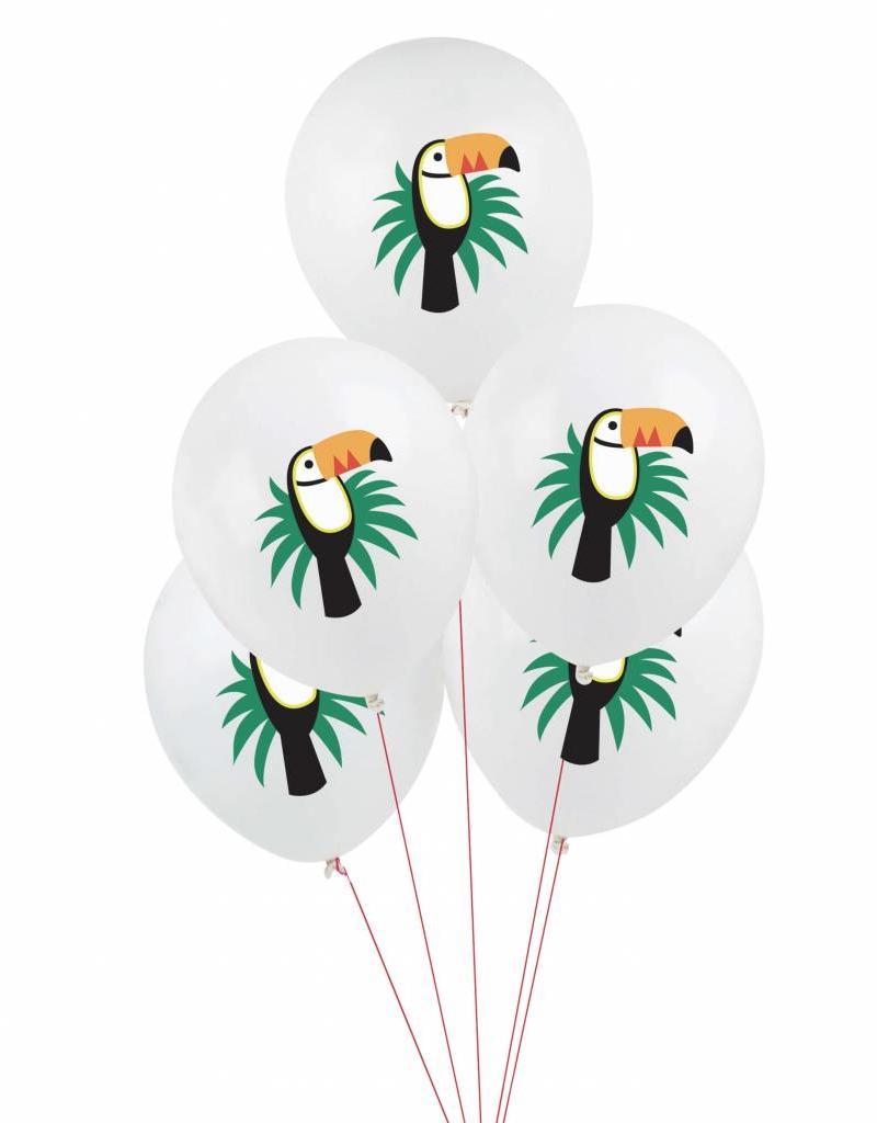My Little Day Ballonnen 'Tropical toucan' | 5 stuks