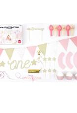PartyDeco Partybox meisje 1 jaar