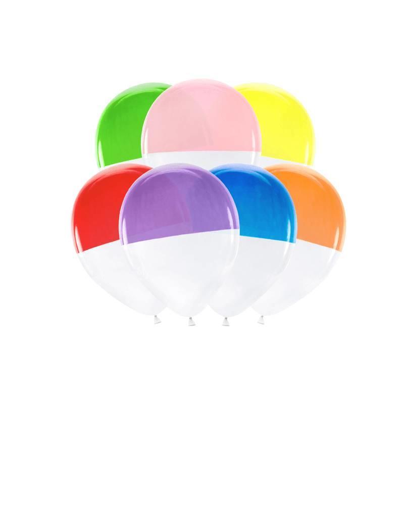 PartyDeco Ballonnen in regenboog kleuren | 7 stuks