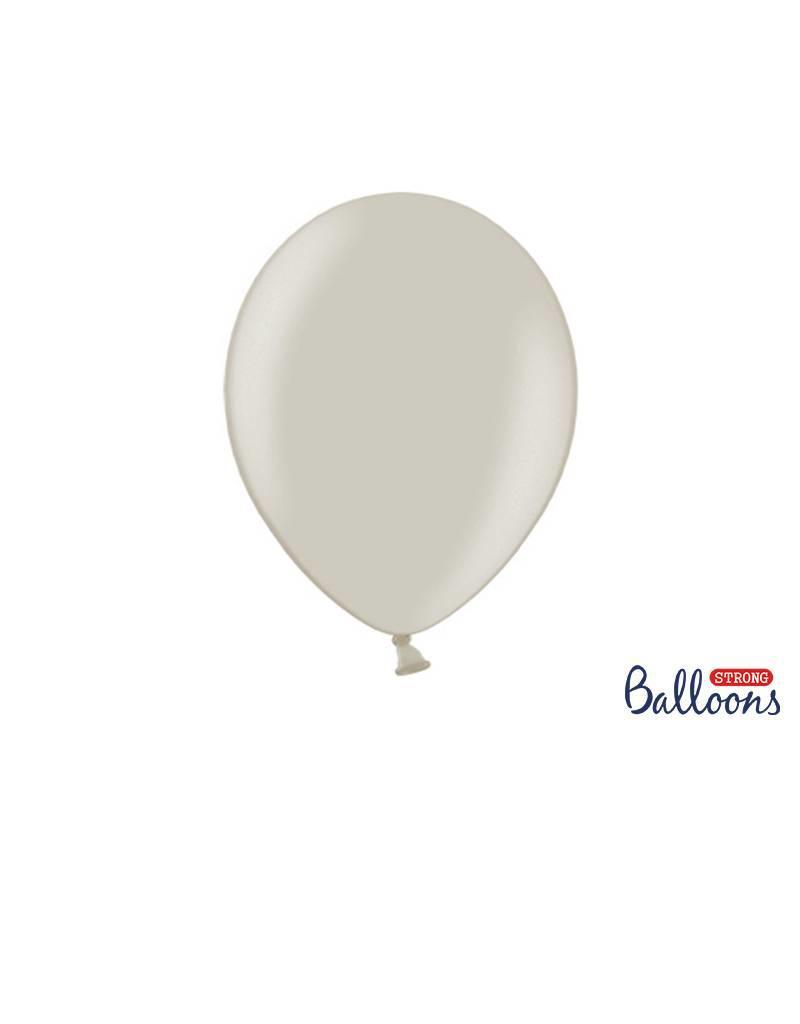 Strong Balloons Ballonnen grijs (30 cm) | 10 stuks