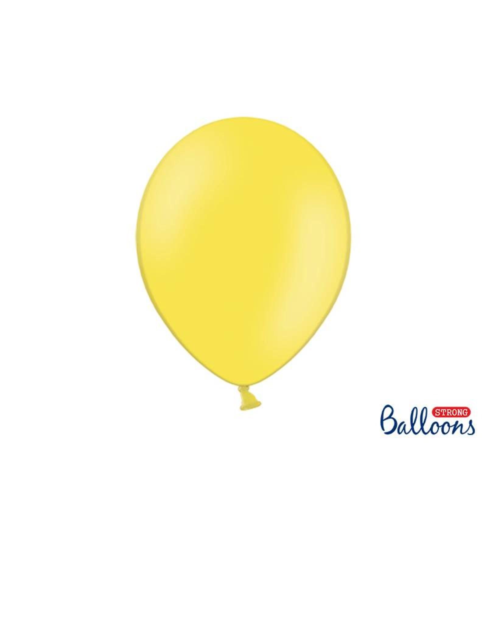 Strong Balloons Ballonnen lichtgeel (30 cm) | 10 stuks