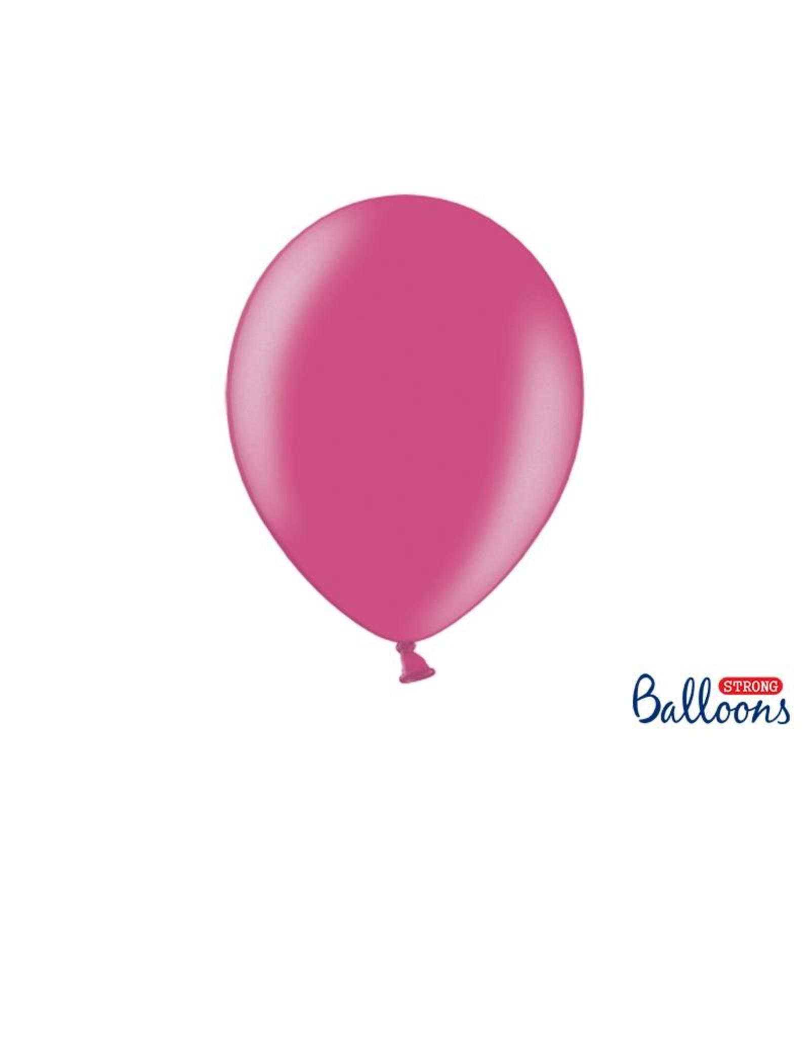 Strong Balloons Ballonnen metallic roze (30 cm)   10 stuks