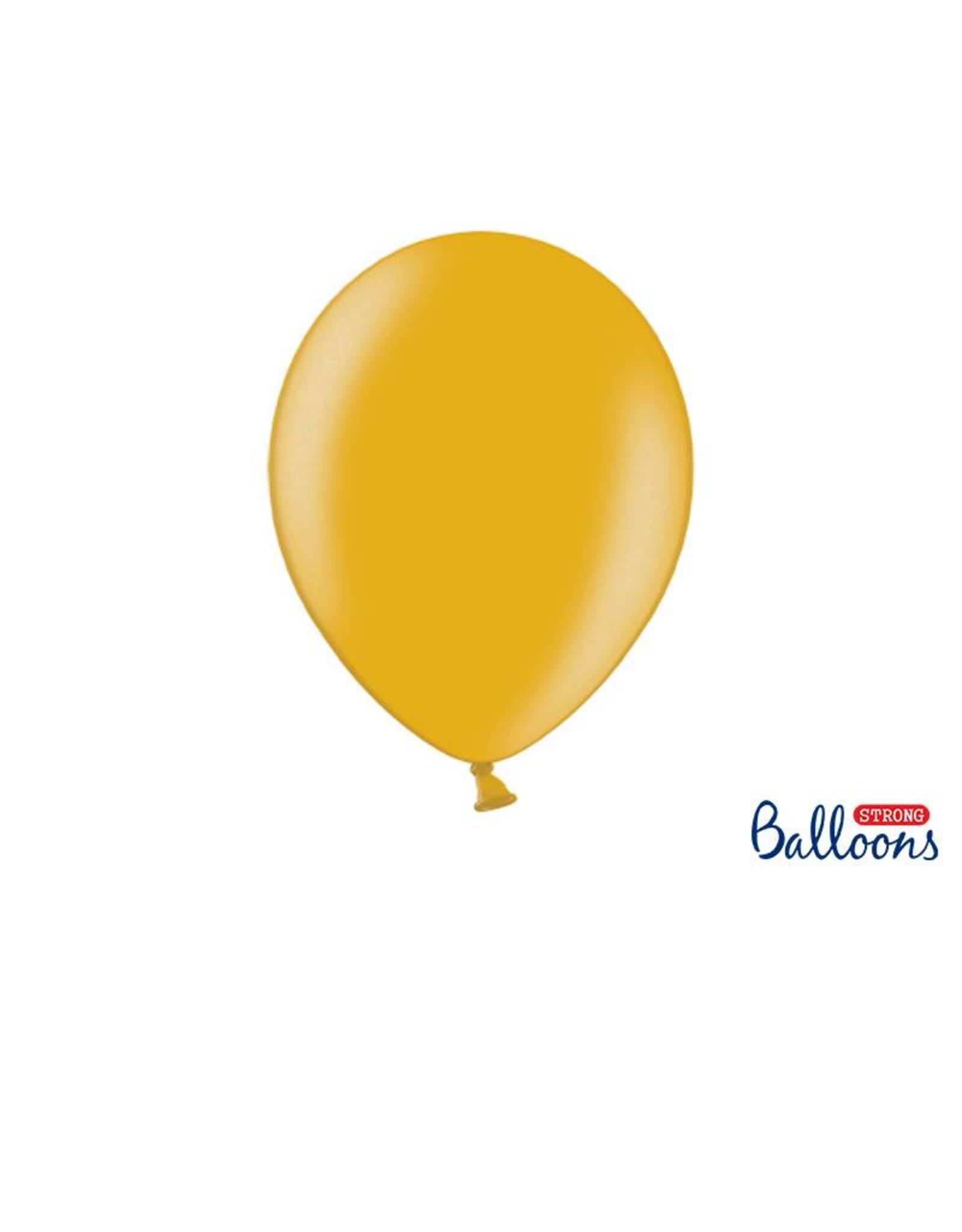 Strong Balloons Ballonnen metallic goud (30 cm) | 10 stuks