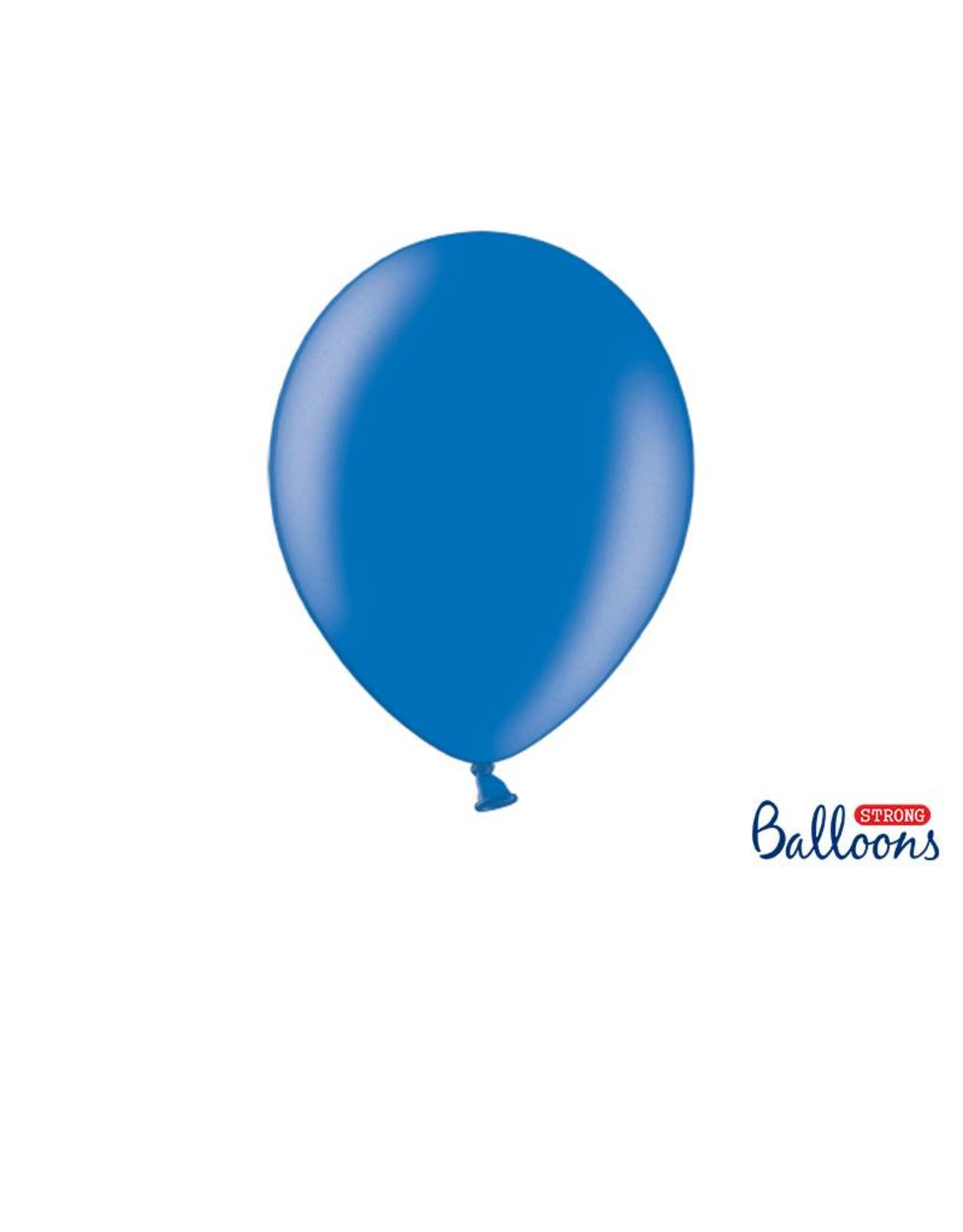 Strong Balloons Ballonnen metallic blauw (30 cm) | 10 stuks