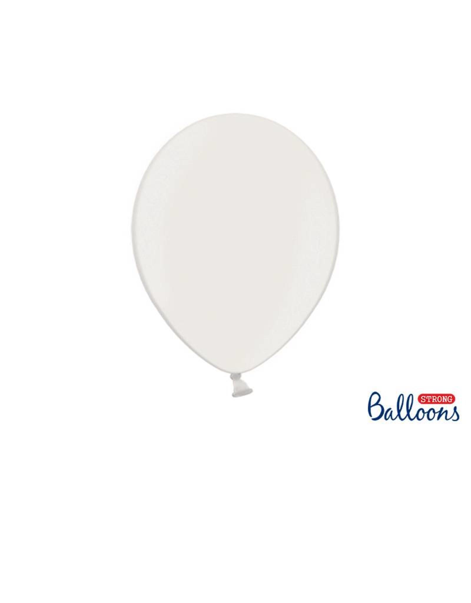 Strong Balloons Ballonnen metallic wit (30 cm) | 10 stuks
