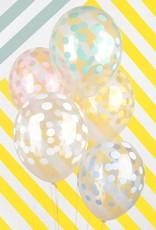 My Little Day Ballonnen confetti print pastel | 5 stuks