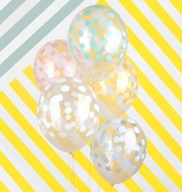 My Little Day Ballonnen confetti print pastel | 5st