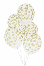 My Little Day Ballonnen confetti print goud | 5st