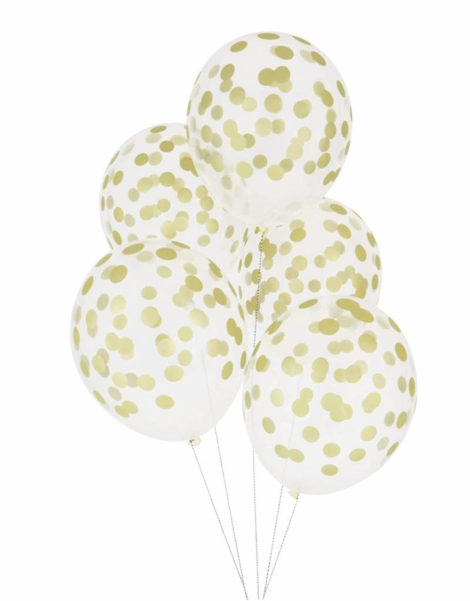 My Little Day Ballonnen confetti print goud | 5st