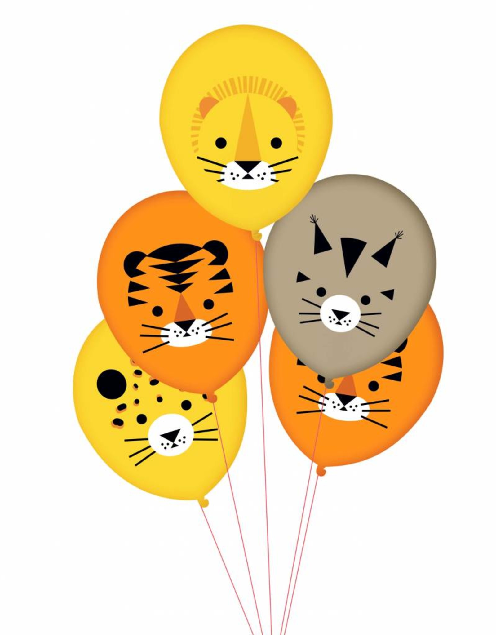 My Little Day Ballonnen 'Welcome to the jungle' | 5 stuks