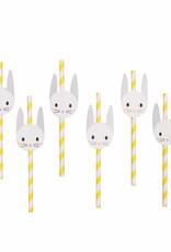 My Little Day Papieren rietjes 'Baby bunny' | 12 stuks