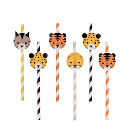My Little Day Papieren rietjes 'Welcome to the jungle' | 12st