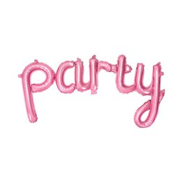 PartyDeco Folieballon 'Party' roze
