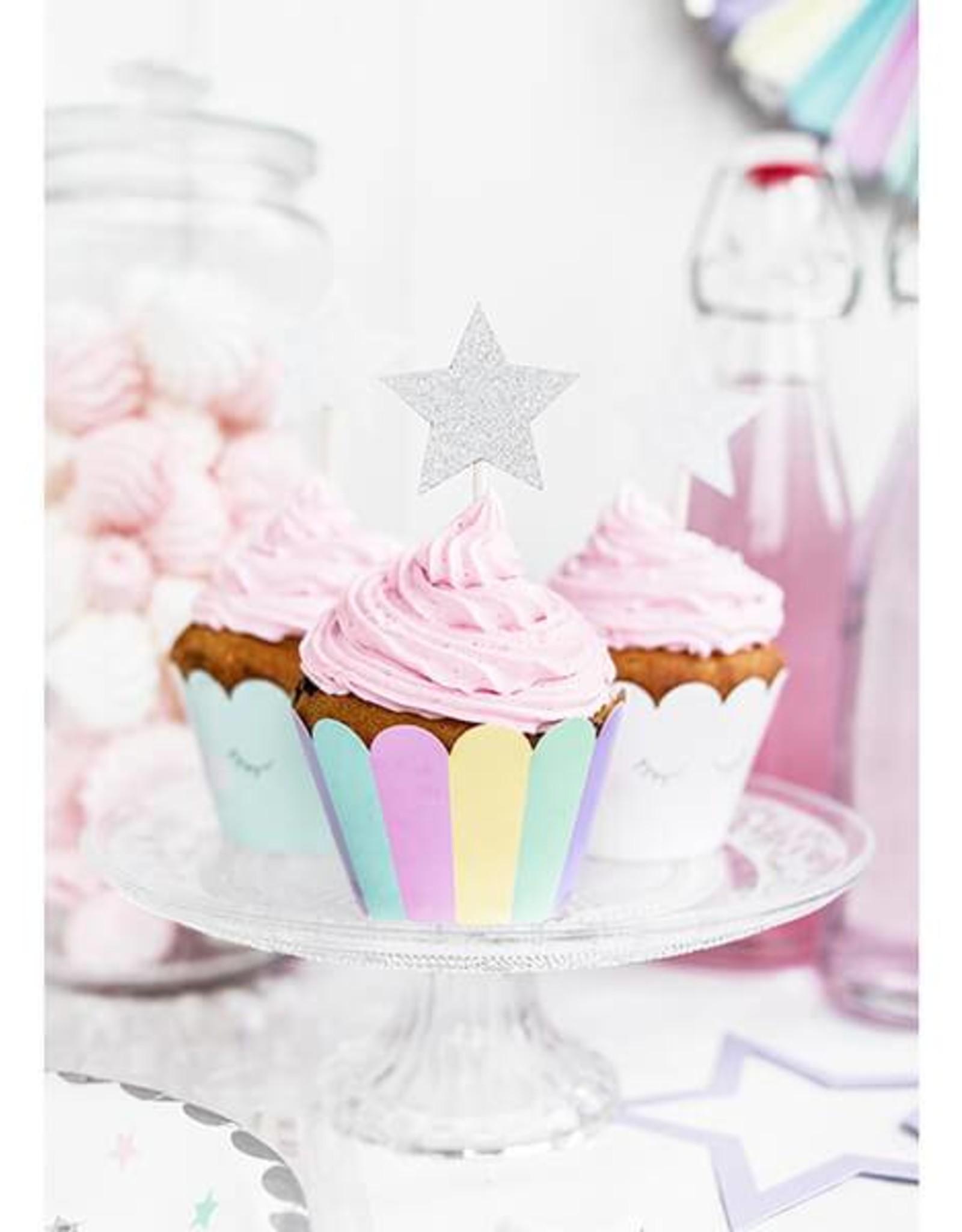 PartyDeco Cupcake wrappers pastel | 6 stuks