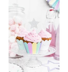 PartyDeco Cupcake wrappers pastel | 6st