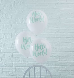 Ginger Ray Ballonnen Hello World mint | 10st