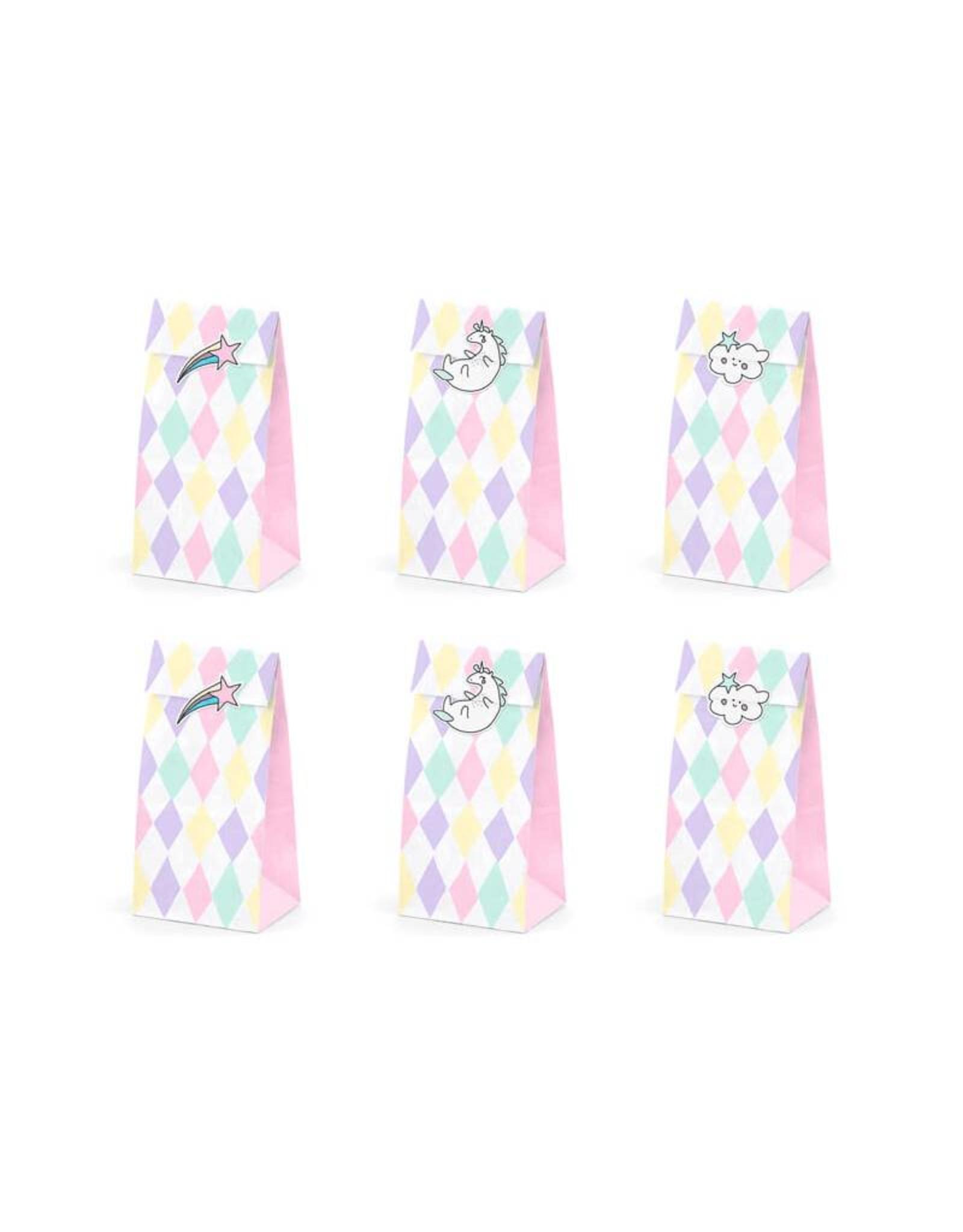 PartyDeco Zakjes pastel met sluitstickers | 6 stuks