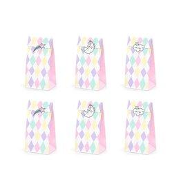 PartyDeco Zakjes pastel met sluitstickers | 6st