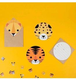 My Little Day Uitnodigingen kinderfeestje jungle dieren | 8st